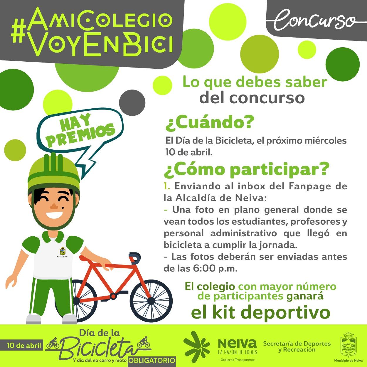 Todo listo para el Día de la bicicleta, del No carro y No moto