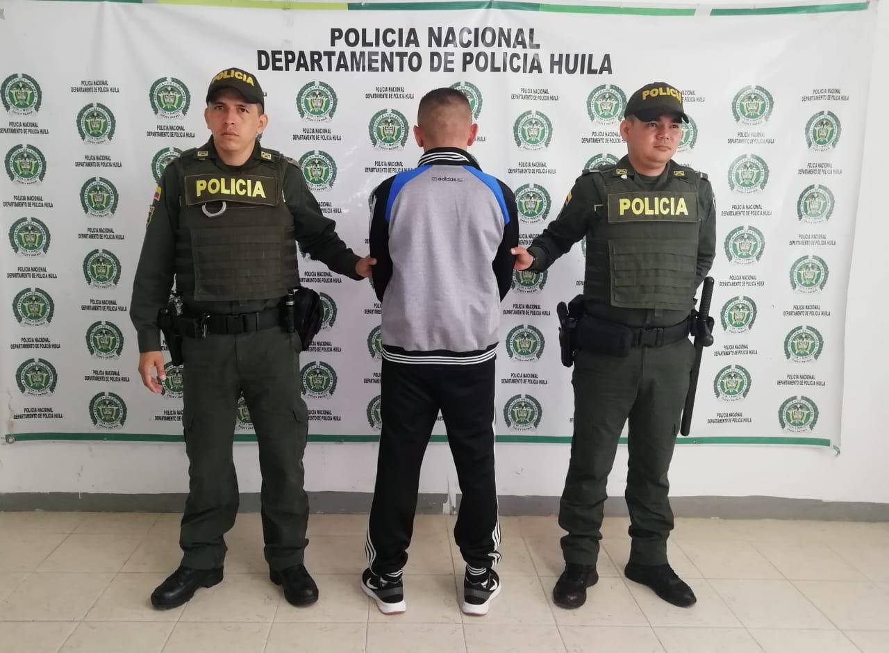 Capturado por homicidio en  La Plata – Huila