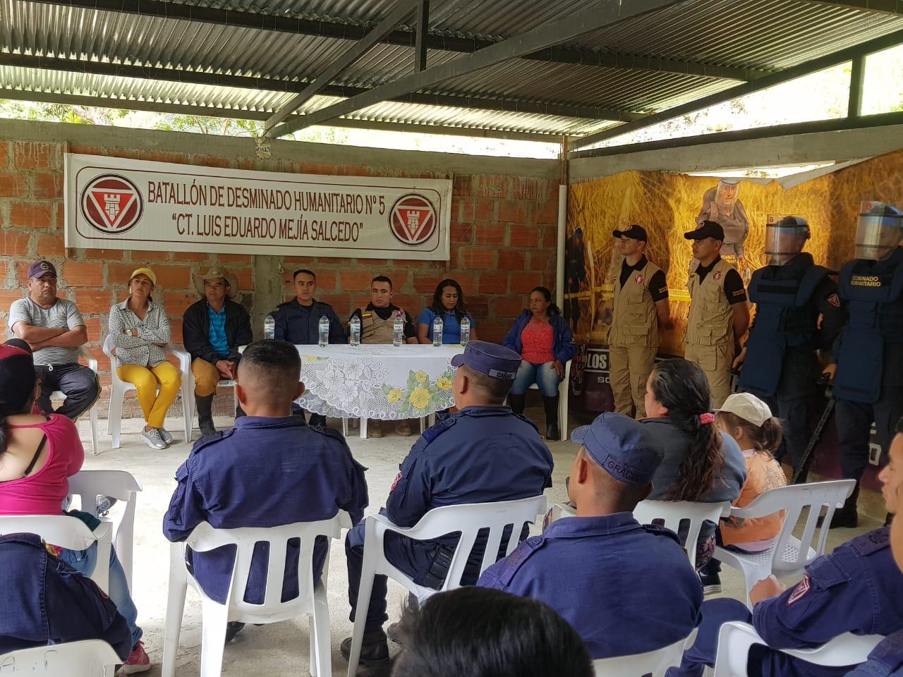 Más áreas libres de minas antipersonal en el Huila