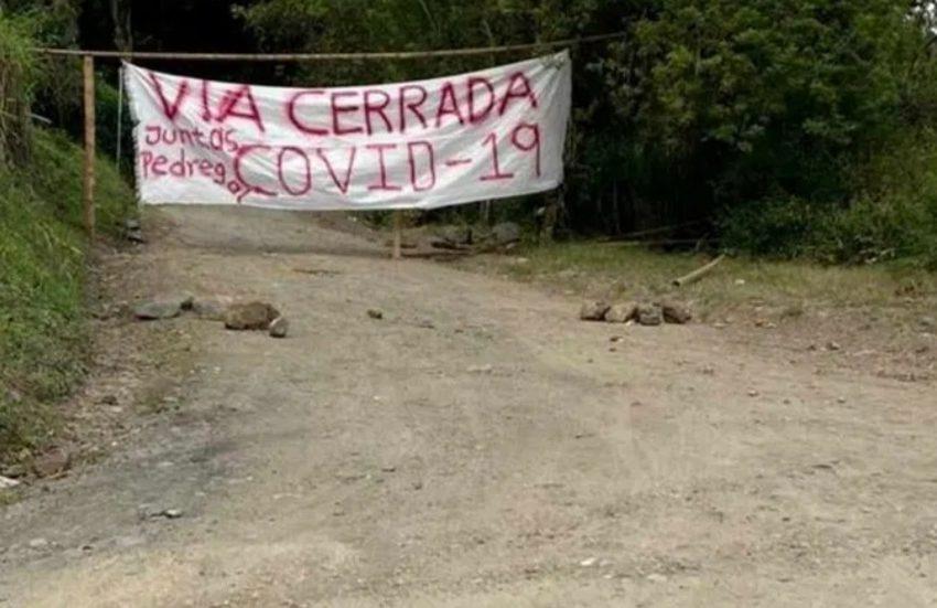 Comunidades rurales de La Plata cerraron vía hacia Inzá Cauca