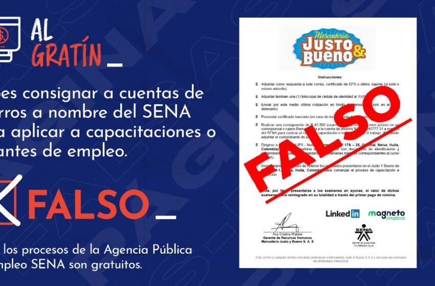 El SENA alerta sobre posible fraude a nombre de la Agencia Pública de Empleo