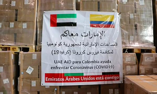 Donación de Emiratos Árabes llegó a Colombia: 18 toneladas de insumos médicos para enfrentar pandemia COVID