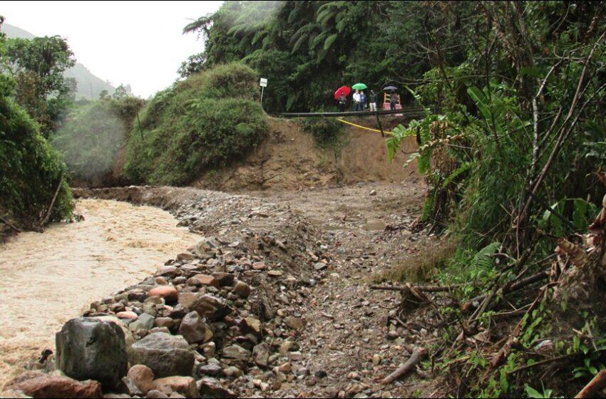 CAM verificó obras de mitigación en la vía nacional Pitalito-Mocoa