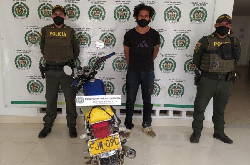 Capturado en flagrancia hurtándose una moto en Pitalito