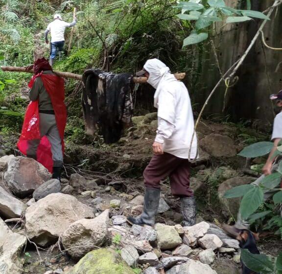 Comunidad del municipio de Oporapa denuncia presunto matadero clandestino.