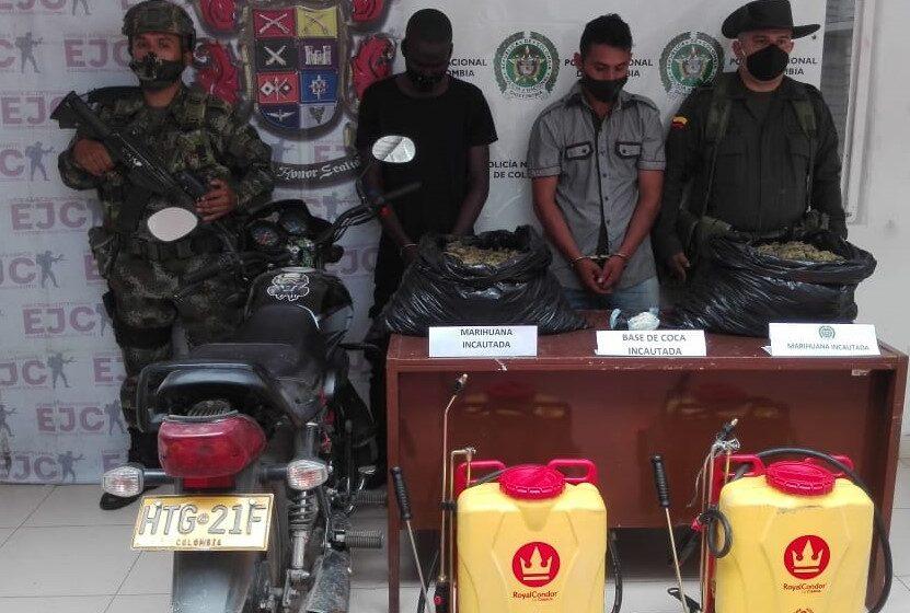 Asegurados dos hombres, presuntamente, implicados en tráfico de estupefacientes