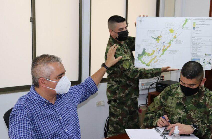 CAM y Ejército definen acciones para fortalecer autoridad ambiental en el Huila