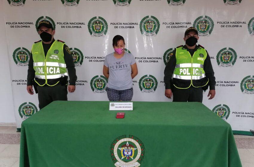 Policía capturó una mujer por el delito de receptación