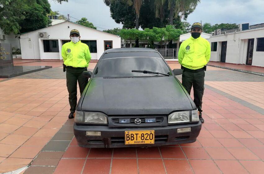 Inmovilizaron vehículo que utilizaban en el hurto de autopartes