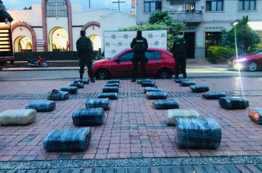 Incautación de 190 kilos de marihuana y la captura de 2 hombres en Hobo y Campoalegre