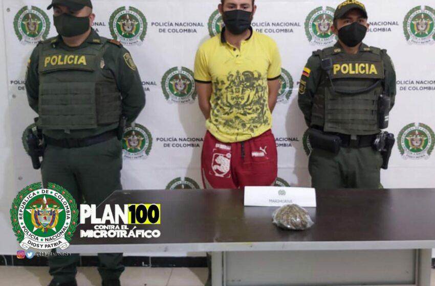Capturados por tráfico de estupefacientes en El Agrado, Santa María y San Agustín